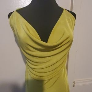 Missguided Chartreuse Dress